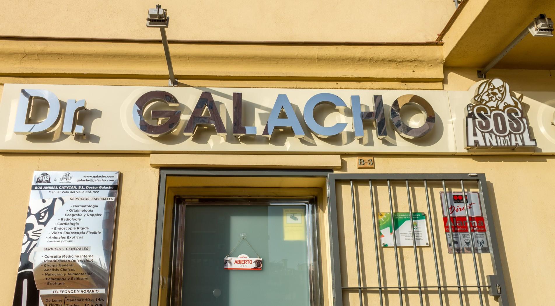 Letrero Clínica Veterinaria Dr.Galacho